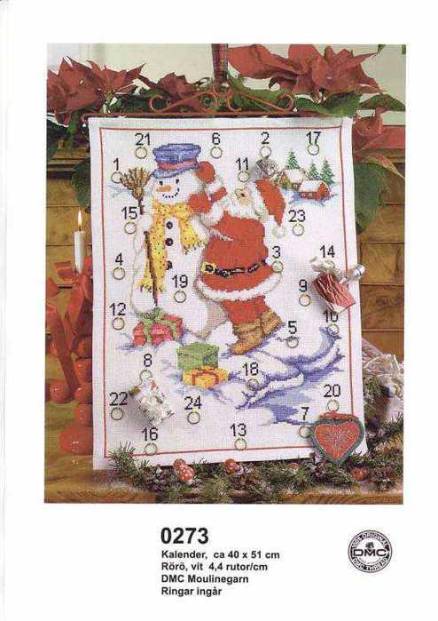 1a.0273 Santa And Snowman Calendar (494x700, 45Kb)