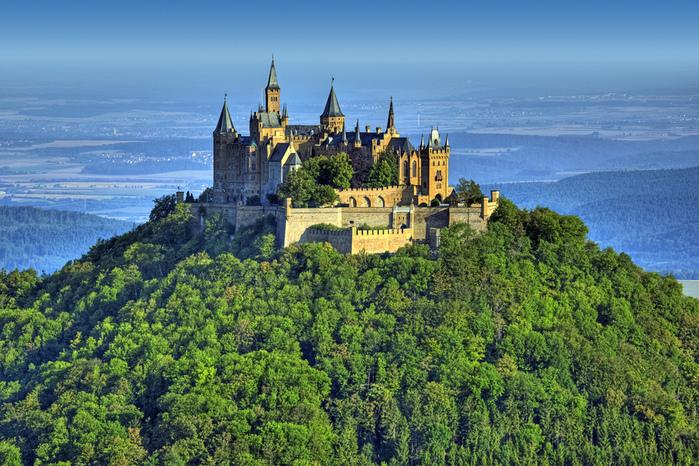 Замок, гогенцоллерн, hohenzollern, castle, burg, hohenzollern, германия, 2700x1800 (700x466, 275Kb)