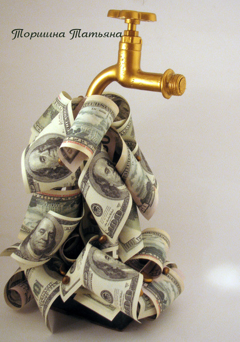 Крана с деньгами своими руками