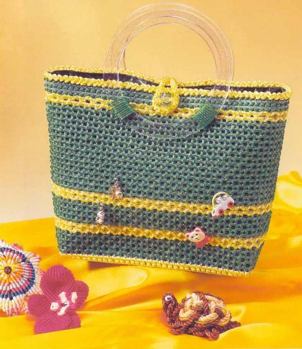 Вязание и вышивка сумок по