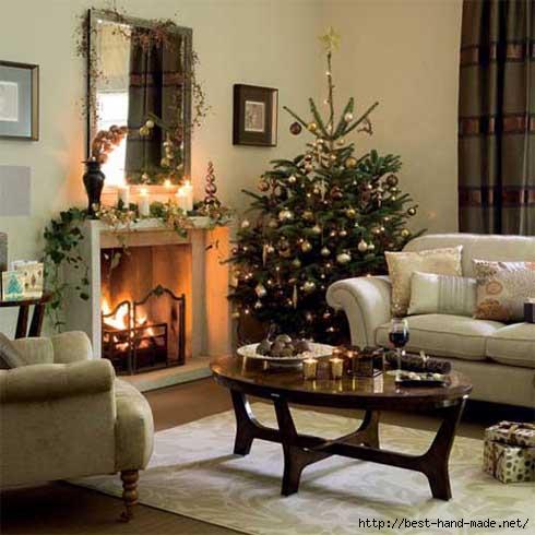 Christmas Comfortable living room interior design (490x490, 114Kb)