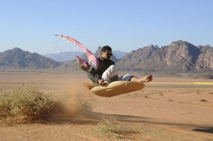 Арабы тоже любят сноубординг.
