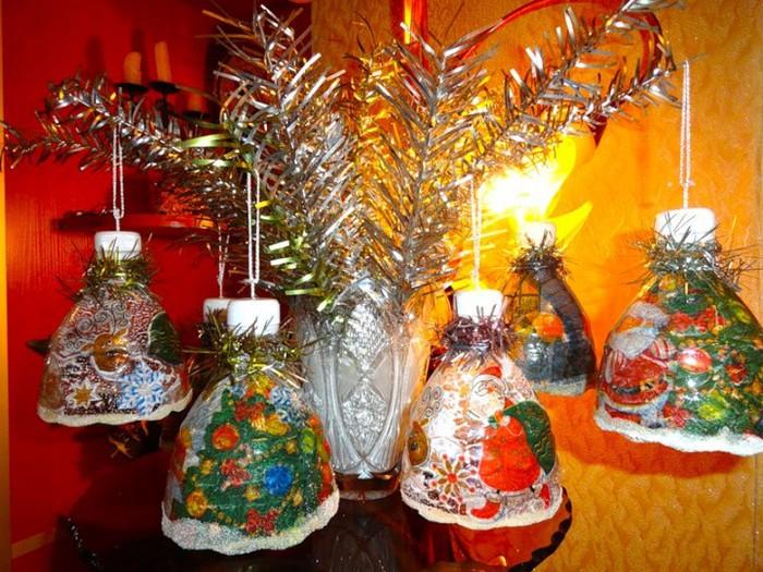 Колокольчики из бутылок своими руками новогодние