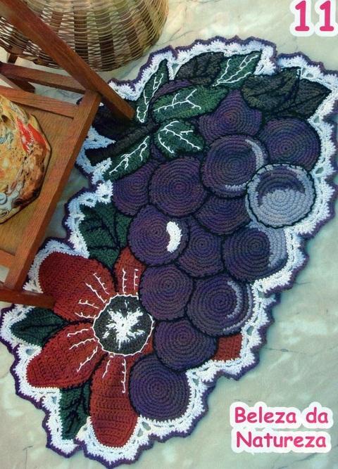 """钩针地毯:""""葡萄"""" - maomao - 我随心动"""