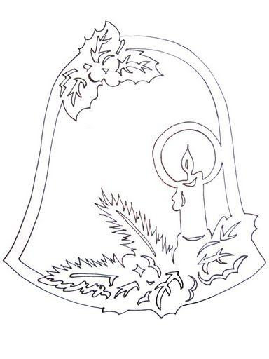 vystrihovanka-na-okno-zvonecek-se-svickou (384x512, 26Kb)