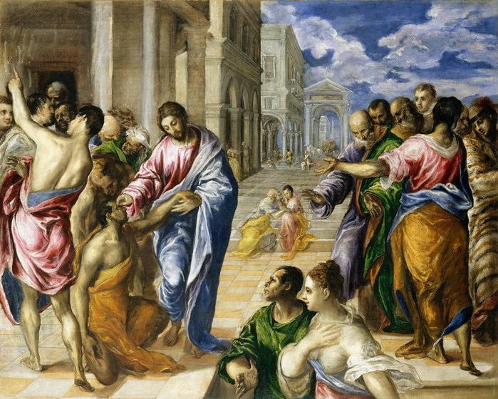 Эль Греко -  Чудо исцеления 1570 (700x560, 178Kb)