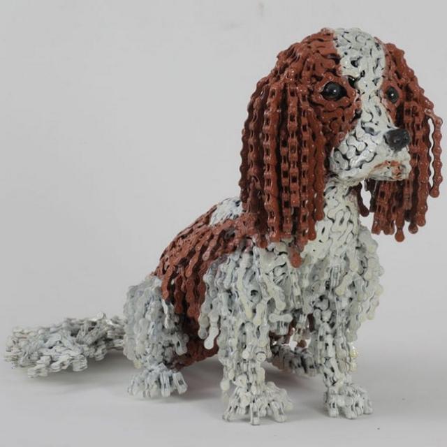 скульптуры собак из велосипедных деталей 3 (640x640, 182Kb)