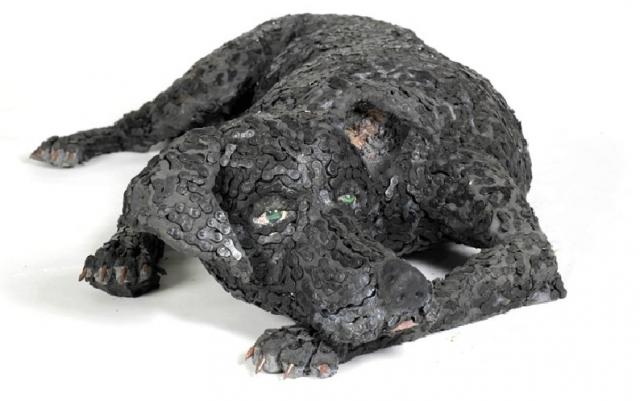 скульптуры собак из велосипедных деталей 4 (640x401, 144Kb)