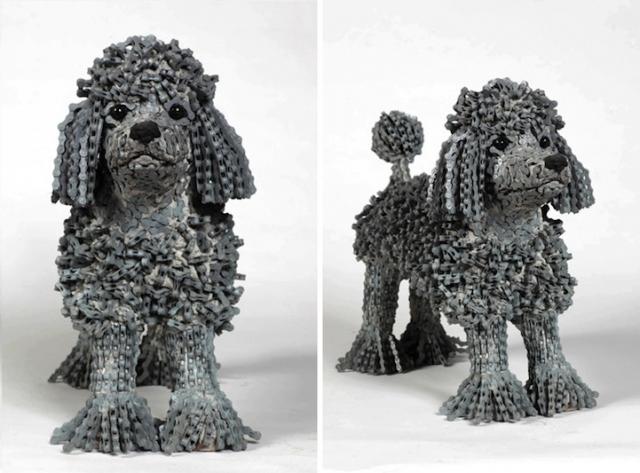 скульптуры собак из велосипедных деталей 13 (640x473, 191Kb)