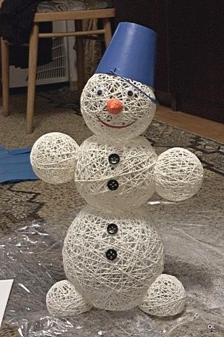 Новогодние шары из ниток своими руками пошаговая