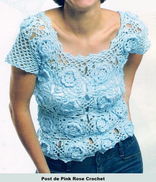 Blusa_Azul_c_Flores_de_Croche_-_PRoseCrochet (540x631, 73Kb)