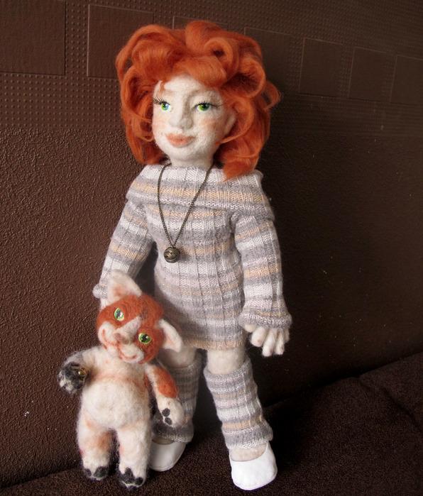 Как свалять куклу на проволочном каркасе? - Валяние из шерсти