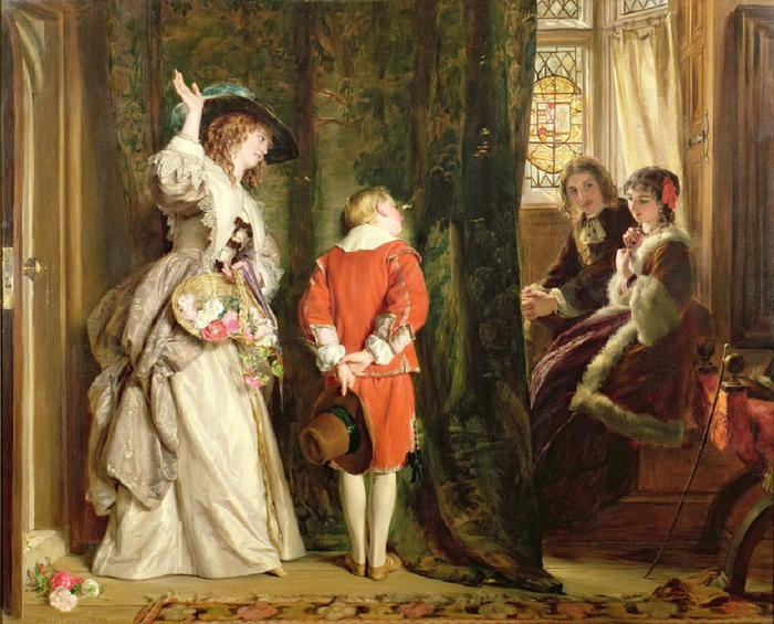 John Callcott Horsley - Pay for Peeping 1872 (700x565, 71Kb)