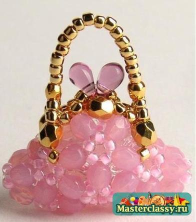 Как изготовить такую красоту.  Посмотрите какая прелесть-миниатюрные сумочки из бисера.Можно сделать для кукол или...