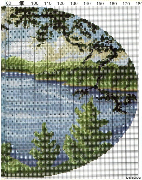 Схема вышивки крестом родные просторы