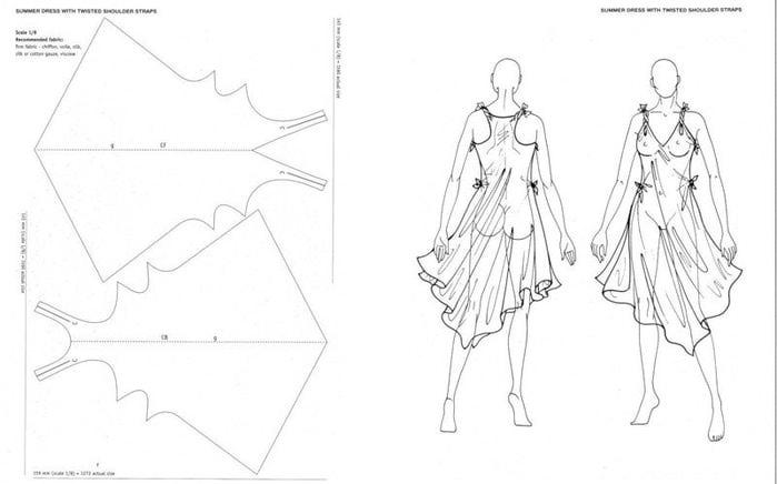 Простые выкройки пляжных платьев 10