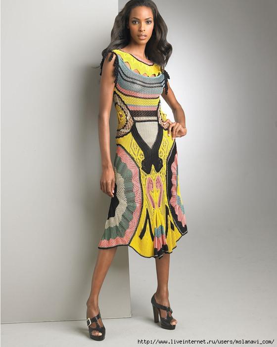 вязаные платья спицами (560x700, 155Kb)