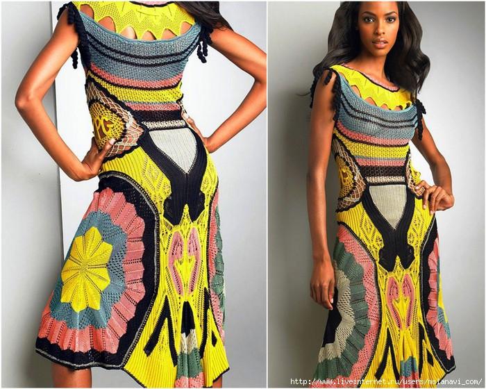 вязаные платья спицами (700x560, 307Kb)