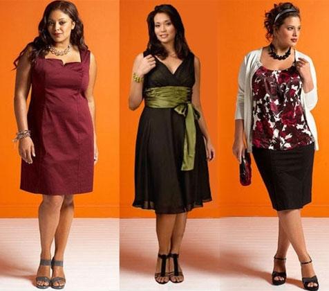 Платья на низких и полных женщин
