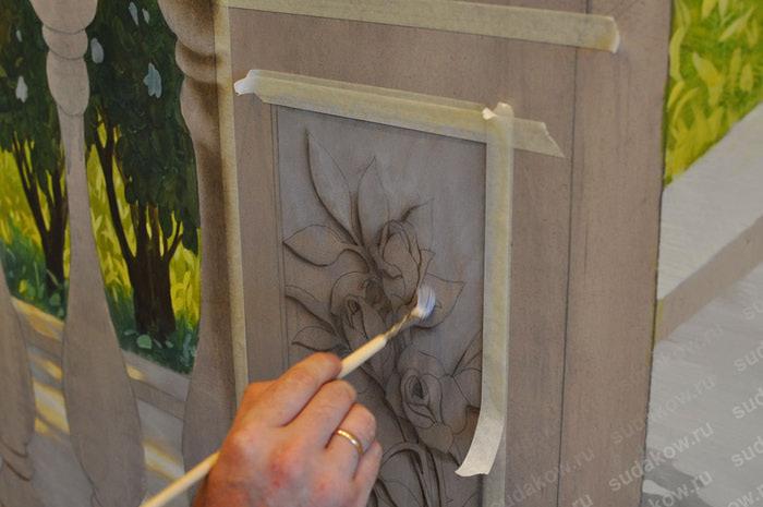 Роспись лепнины своими руками
