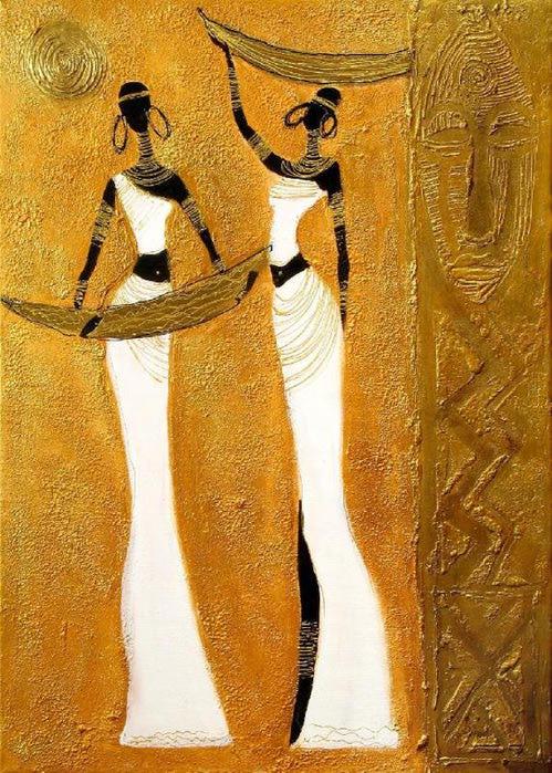 Красота и грация африканок в творчестве Joanna Misztal ... Талантливые Дети Клипарт