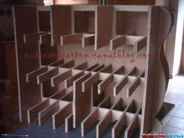 Мебель из картона своими