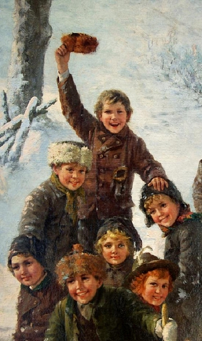 Theodore Kleehaas_children-sledding- (414x700, 239Kb)