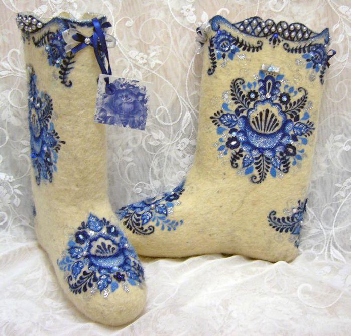 Схемы вышивок на валенках