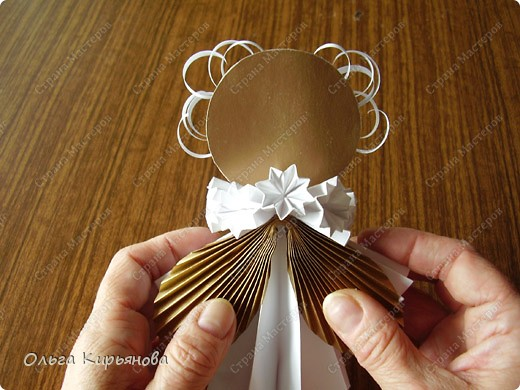 Модульное оригами - Ангел из модуля кусудамы Супершар.