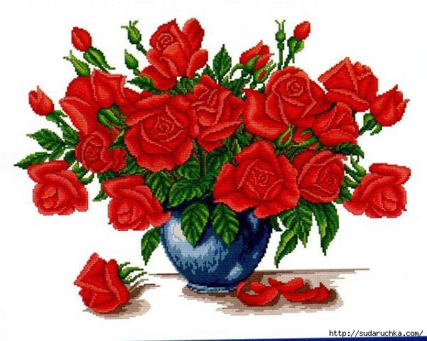 """Вышивка крестиком: Набор для вышивания  """"Розы для любимой """" ."""