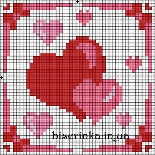 Сердечки вышивка бесплатно
