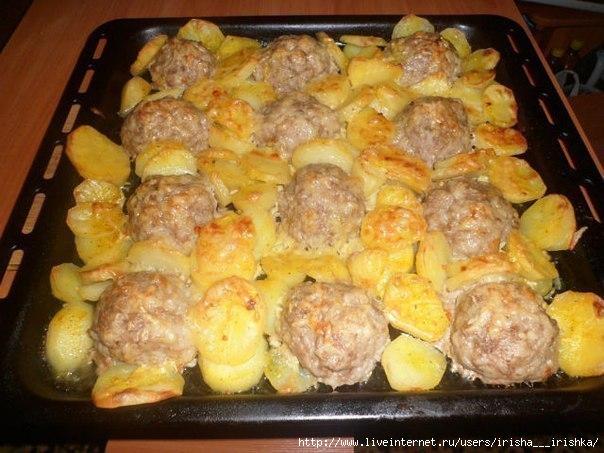 Картошка и мясо в духовке рецепты простые и вкусные