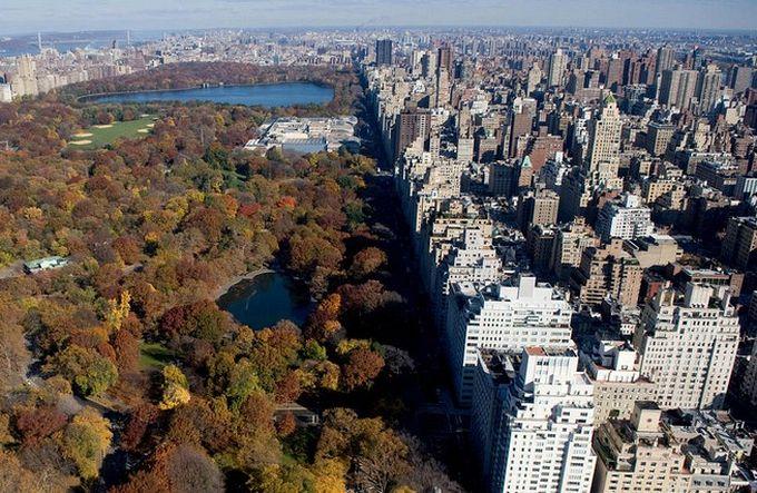 нью-йорк фото с высоты птичьего полета 4 (680x443, 107Kb)