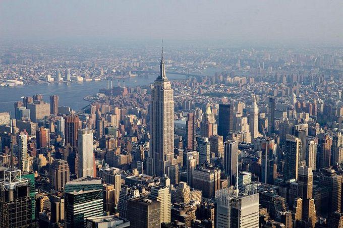 нью-йорк фото с высоты птичьего полета 10 (680x452, 90Kb)