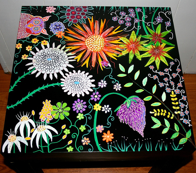 Рик Чидл: чудесные идеи росписи мебели. 14538