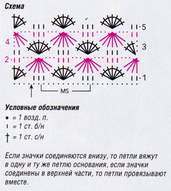 Вязание крючкомцветы схемы узоры 28