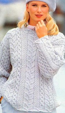 свитер с косами (267x460, 60Kb)