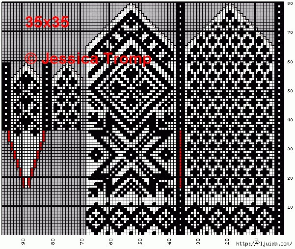 Варежки- 35 схем от Джессики Тромп.