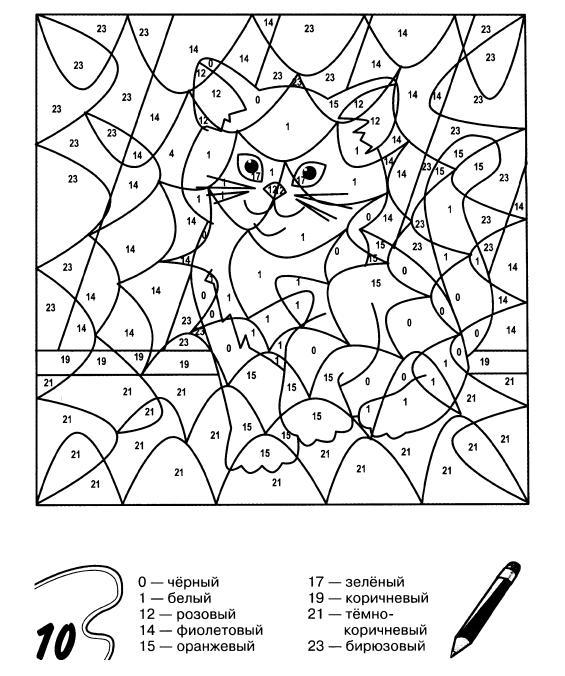 Раскраски по номерам для детей 5 лет - 8
