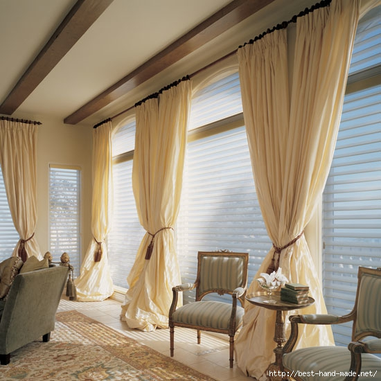 Curtains And Draperies In Home Interior Design  Silhouette (550x550, 189Kb)