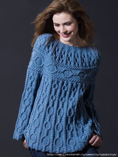 Вязаный пуловер Шамони (500x667, 222Kb)