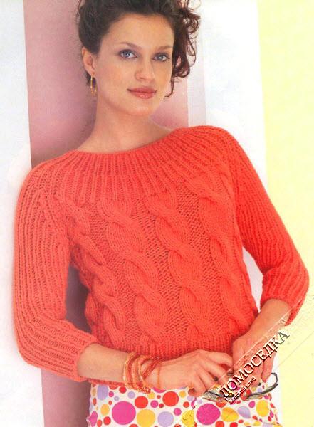Вязание женского пуловера 37