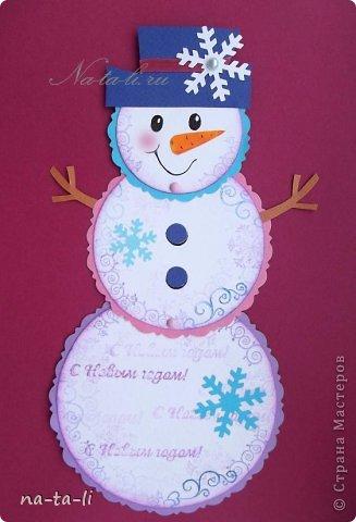 Снеговик из картона своими руками фото