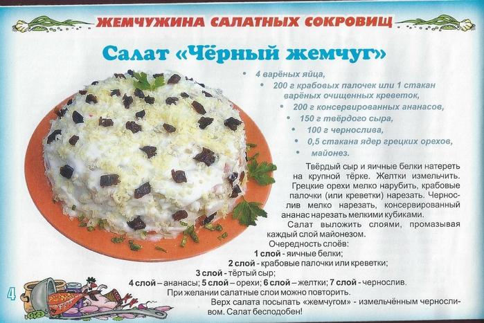 Рецепт салата черный жемчуг