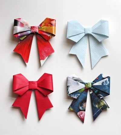 Бант сделать оригами