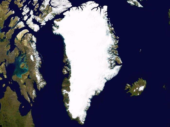 Гренландия вид Гренландии из космоса (700x523, 59Kb)