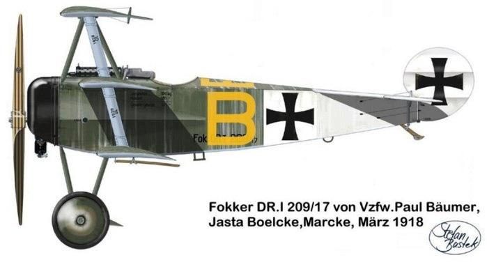 03 Paul Baumer. Marcke, март 1918 (700x376, 36Kb)