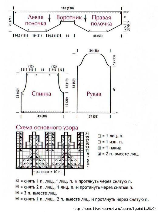 1-схема-вязания-болеро-спицами