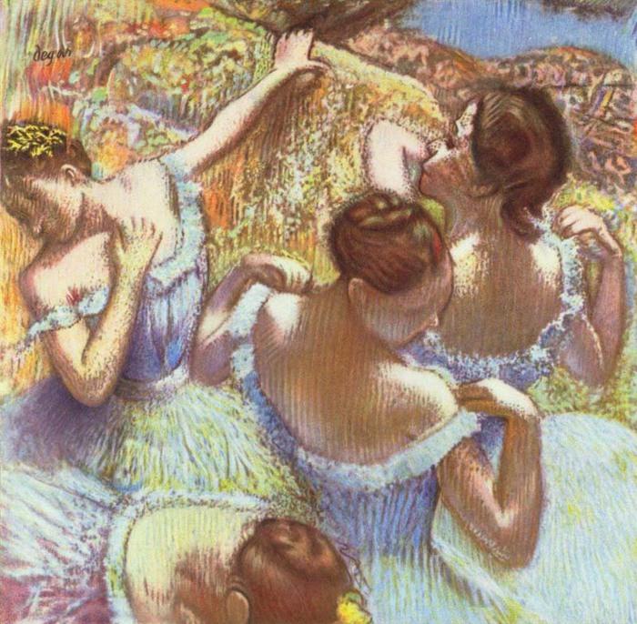 Я обожаю балет, и поэтому, когда я увидела эту картину, я просто влюбилась в нее.  Эдгар Дега был первым из...