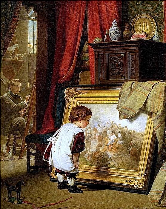 August Friedrich Siegert. Die Kleine Kunstkennerin 1863 (556x700, 422Kb)